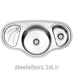 عکس سینک آشپزخانهسینک فانتزی توکار مدل 754