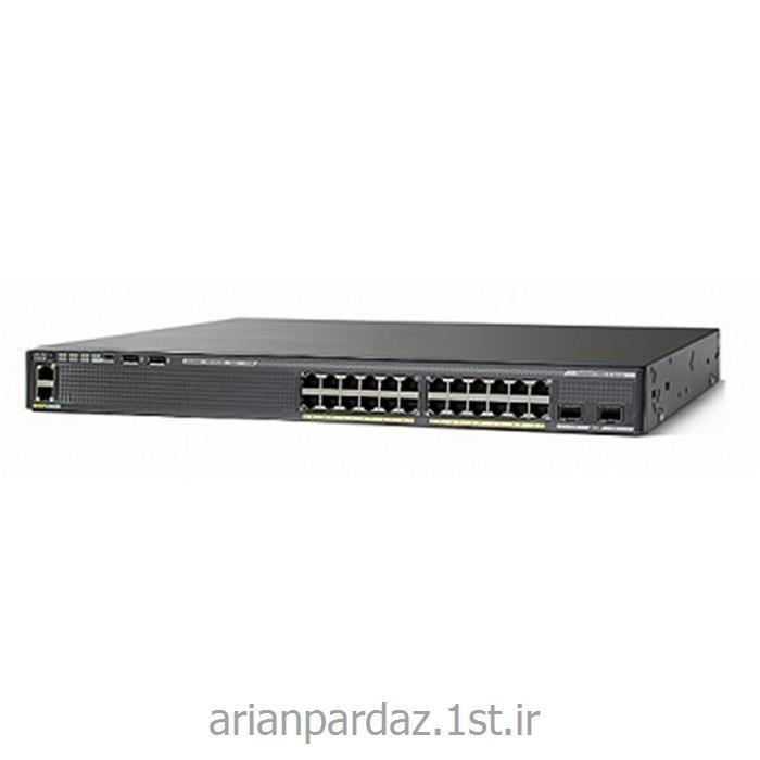 عکس سوئیچ شبکهسوییچ شبکه سیسکو 24 پورت Cisco 2960XR-24TS-I