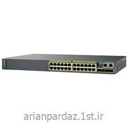 عکس سوئیچ شبکهسوییچ شبکه سیسکو 24 پورت Cisco 2960X-24PS-L