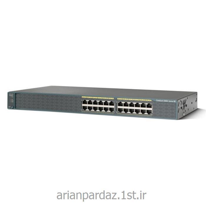 عکس سوئیچ شبکهسوییچ شبکه 24 پورت سیسکو Cisco 2960-24 PCL