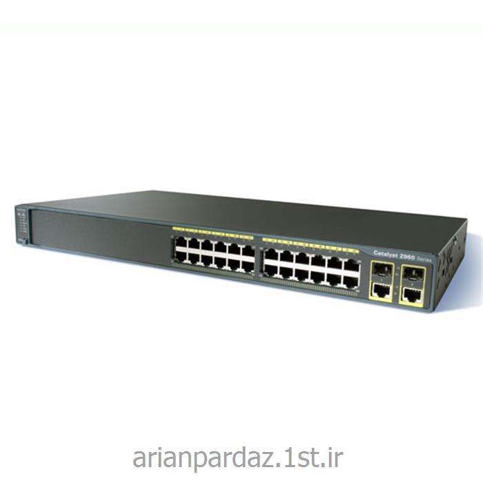 عکس سوئیچ شبکهسوییچ شبکه سیسکو 24 پورت Cisco Catalyst 2960-24TC-L