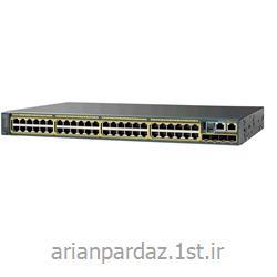 عکس سوئیچ شبکهسوییچ شبکه سیسکو 48 پورت Cisco 2960X-48LPD-L