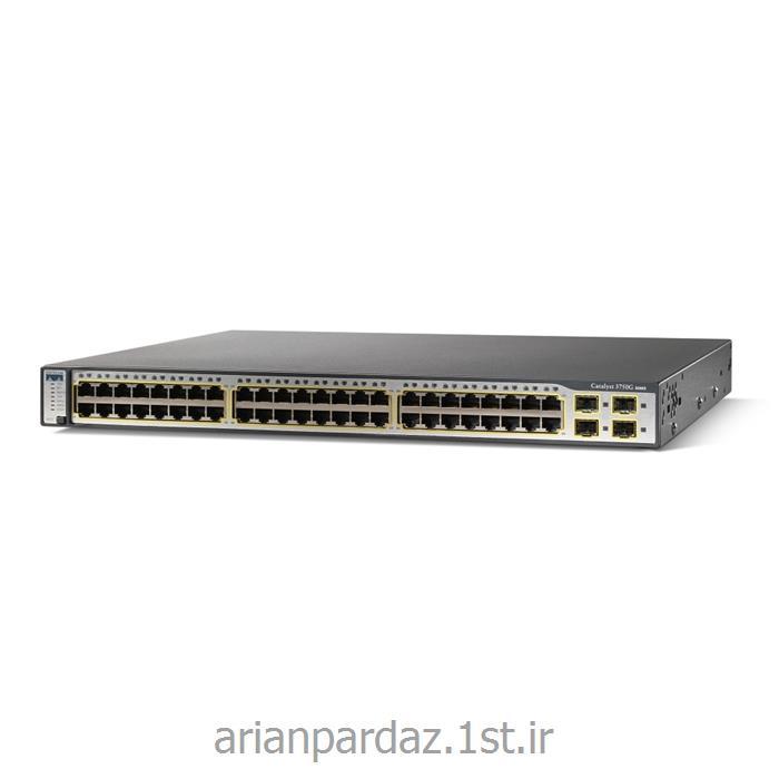 سوییچ شبکه تی تی اس سیسکو 48 پورت WS-C 37500- 48TT-S