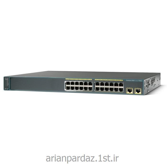 سوییچ شبکه سیسکو 24 پورت Cisco  2960-24LT-L<