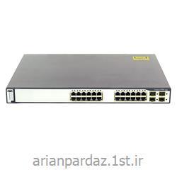 سوئیچ شبکه 24 پورت سیسکو WS-C 3750G- 24TSS-1U