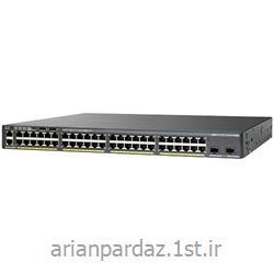 عکس سوئیچ شبکهسوییچ شبکه سیسکو 48 پورت Cisco  2960X-48LPS-L