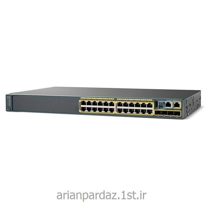عکس سوئیچ شبکهسوییچ شبکه 24 پورت سیسکو  Cisco 2960S-24TS-L