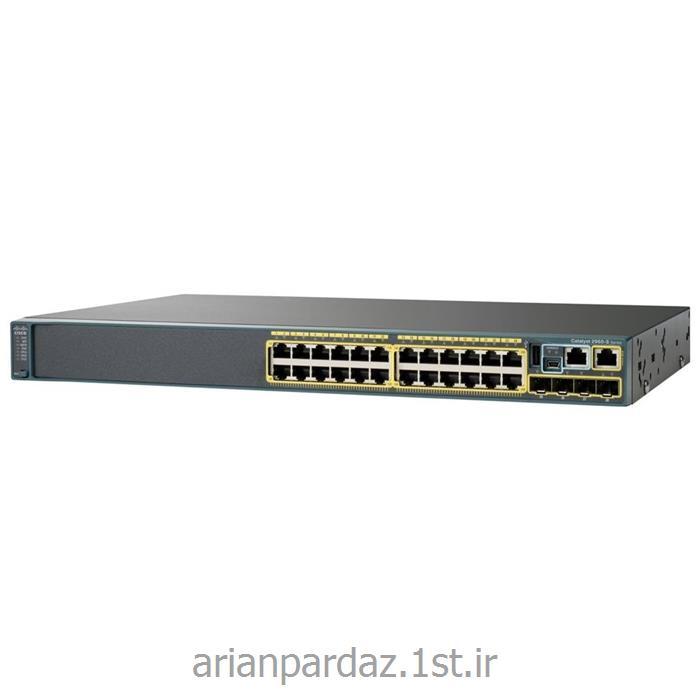 عکس سوئیچ شبکهسوییچ شبکه سیسکو 24 پورت Cisco 2960X-24PD-L