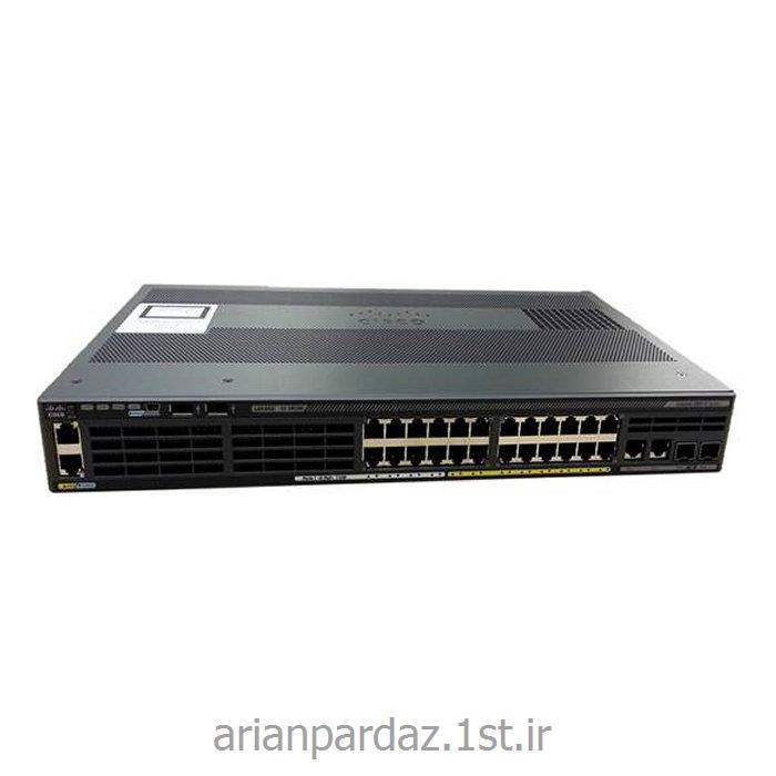 عکس سوئیچ شبکهسوییچ شبکه سیسکو 24 پورت Cisco 2960X-24PSQ-L