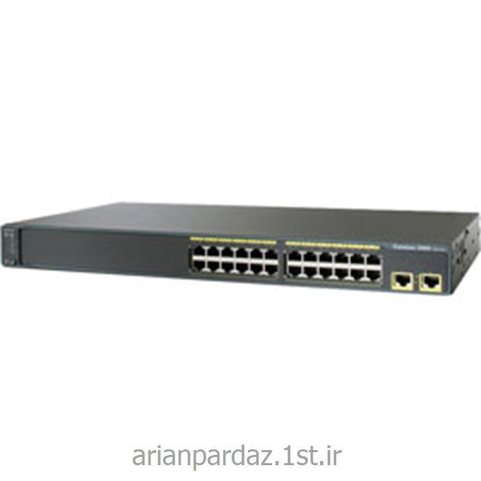 عکس سوئیچ شبکهسوییچ شبکه سیسکو 24 پورت Cisco 2960-24TT-L