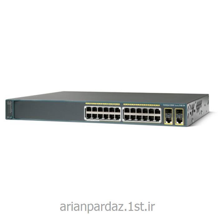 عکس سوئیچ شبکهسوییچ شبکه 24 پورت سیسکو  Cisco 2960-24PC-L