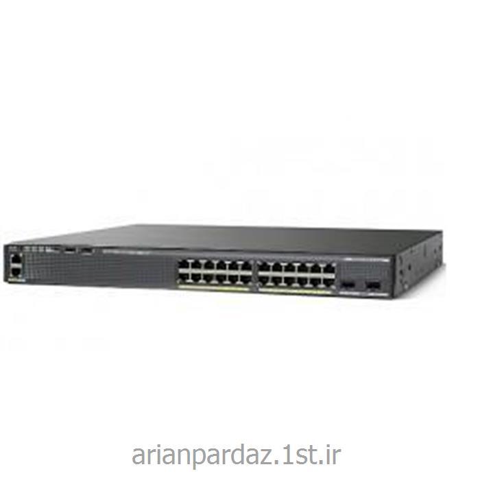 عکس سوئیچ شبکهسوییچ شبکه سیسکو 24 پورت Cisco 2960X-24TS-LL