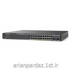 عکس سوئیچ شبکهسوییچ شبکه سیسکو 24 پورت Cisco 2960XR-24PS-I