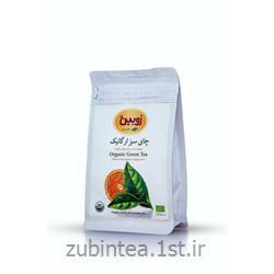 چای سبز مخلوط شده با برگه پرتقال ارگانیک