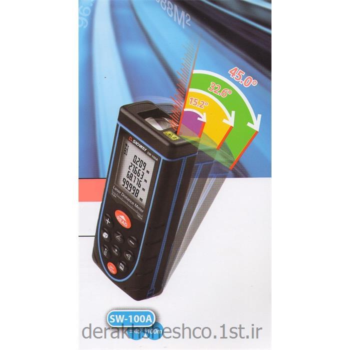 عکس متر لیزریمتر لیزری 100 متر همراه با زاویه سنج شرکت ساندوی (sndway - sw100a)