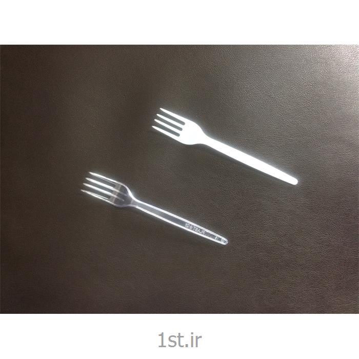 چنگال یکبار مصرف سبک شفاف