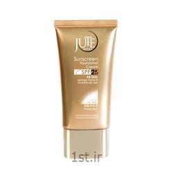 عکس کرم ضد آفتابکرم ضد آفتاب کرم پودری ژوت رنگ بژ روشن Sun screen cream SPF 25