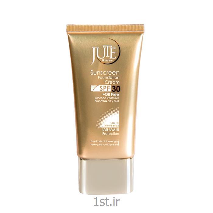 کرم ضد آفتاب کرم پودری ژوت بژطبیعی sunScreen CREAM jute SPF 30