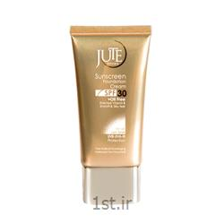 کرم پودر حاوی ضد آفتاب ژوت بژ روشن SPF 30 Sunscreen cream jute
