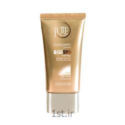 کرم ضد آفتاب SPF 50 ژوت بژ طبیعی پوست چرب sunscreen cream jute 40 mil