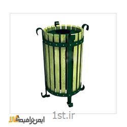 عکس سطل زباله (سطل آشغال)سطل آشغال چوبی شهری KAM-223