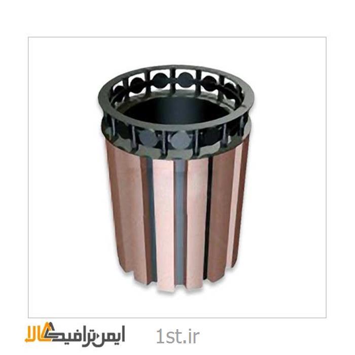 سطل زباله فلزی شهری KAM- 210