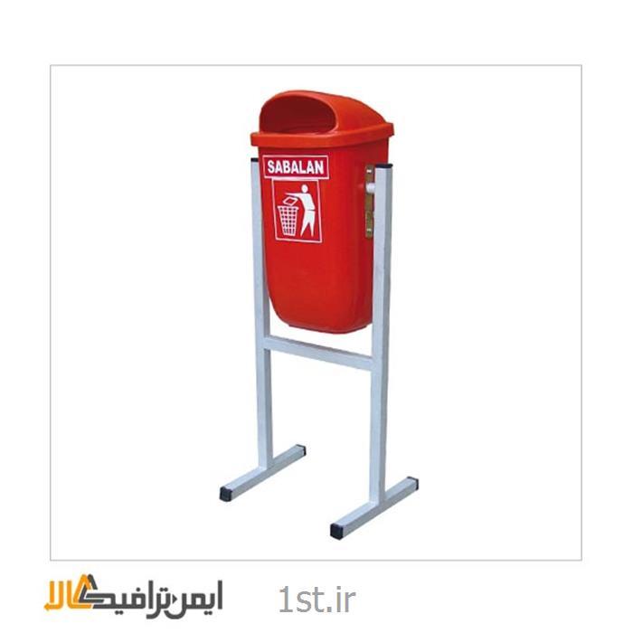 عکس سطل زباله (سطل آشغال)سطل زباله پایه دار 50 لیتری SP-16