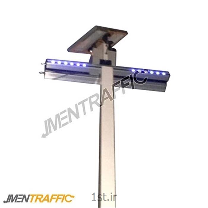 عکس سایر تجهیزات پلیسی و نظامیپلیس مجازی LED خورشیدی 50 سانت دو طرفه ME-2004