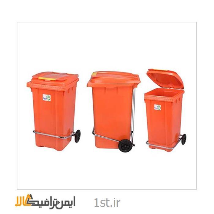 عکس سطل زباله (سطل آشغال)سطل آشغال پدال دار پلاستیکی RS-16