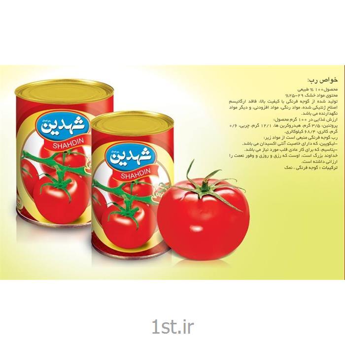 عکس کنسرو میوهرب قوطی گوجه فرنگی در بسته بندی های متنوع