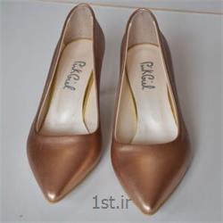 عکس کفش مجلسیکفش چرم زنانه  مجلسی طلایی