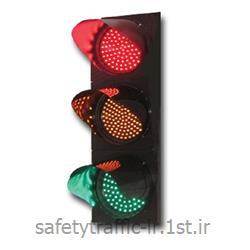عکس چراغ راهنماییچراغ راهنمایی LED کامل پایه ترافیکی