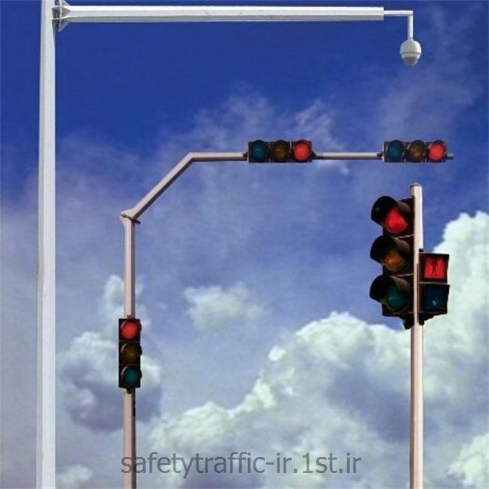 پایه چراغ راهنمایی هشت وجهی 1/5*6 متر