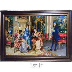 تابلو فرش دستبافت شاعر دربار فرانسه