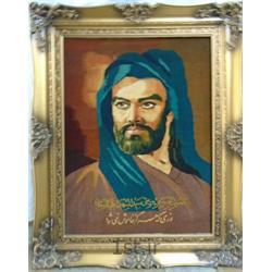 تابلو فرش دستباف شمایل امام حسین (ع)