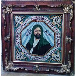 تابلو فرش شمایل مولا با شعر شهریار