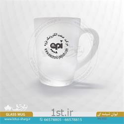 عکس لیوانلیوان شیشه ای تبلیغاتی با چاپ رنگی کد B602