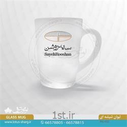 لیوان شیشه ای تبلیغاتی با چاپ رنگی کد B602