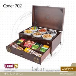 جعبه پذیرایی چوبی تبلیغاتی کد Aa702