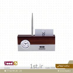 ساعت رومیزی چوبی تبلیغاتی کد 019