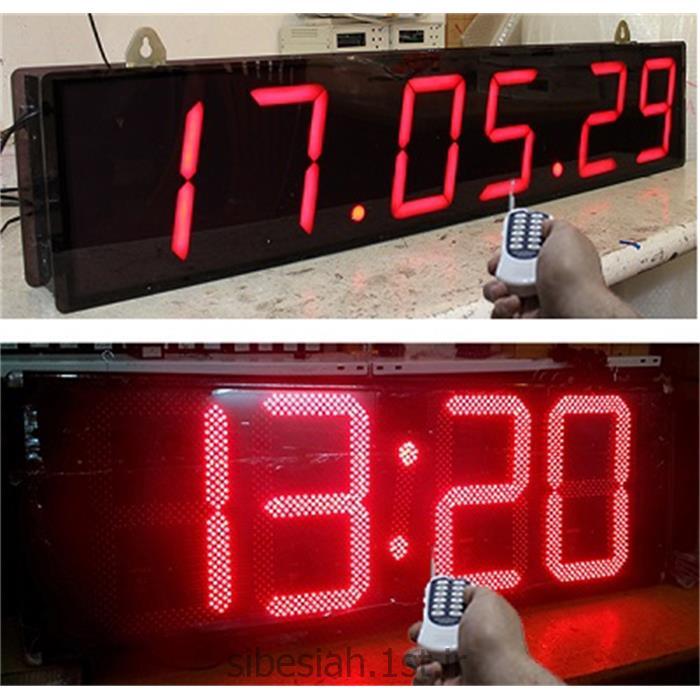 ساعت و دماسنج دیجیتال برای کارخانه