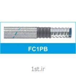 عکس لوله خرطومی کابللوله خرطومی فلزی فلکسی روکشدار شیلددار تیپ FC1PB