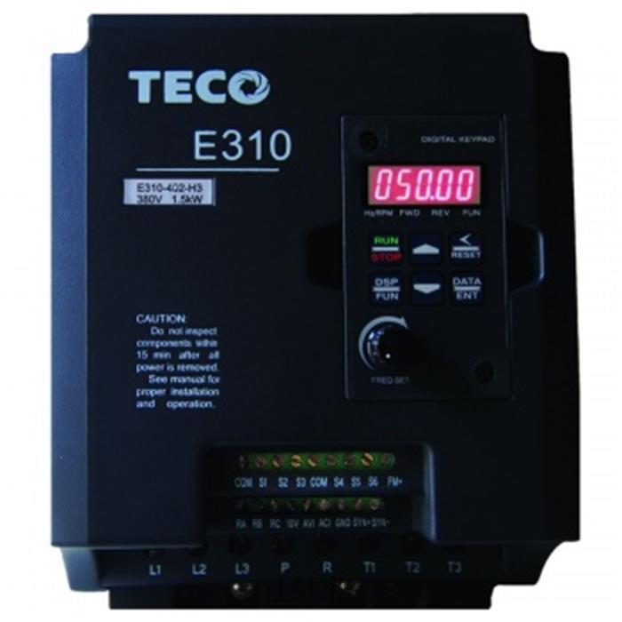 عکس درایور موتوراینورتر 1.5 کیلووات TECO سری E310 ورودی تکفاز