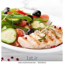 سینه مرغ و بشقاب سبزیجات