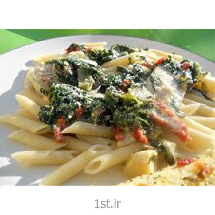 پنه با مرغ و سبزیجات و سس پستو