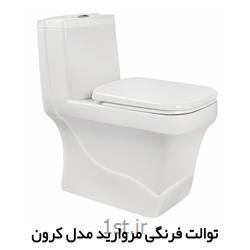توالت فرنگی کرون چینی مروارید