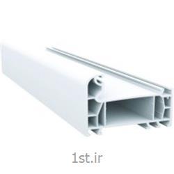 پروفیل فریم سری 70 پنج کانال سفید و لمینیت طرح چوب مدل 7001