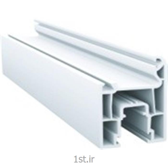 پروفیل لنگه پنجره کشویی سفید و لمینیت طرح چوب مدل 7102