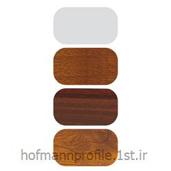 پروفیل میانی ثابت سری 70 پنج کانال سفید و لمینیت طرح چوب مدل 7004