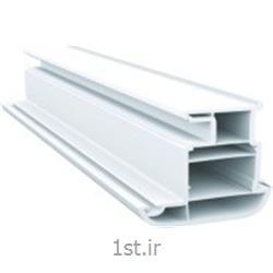 پروفیل میانی متحرک سری 70 پنج کانال سفید و لمینیت طرح چوب مدل 7005